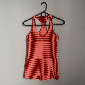 Striped work-out tank